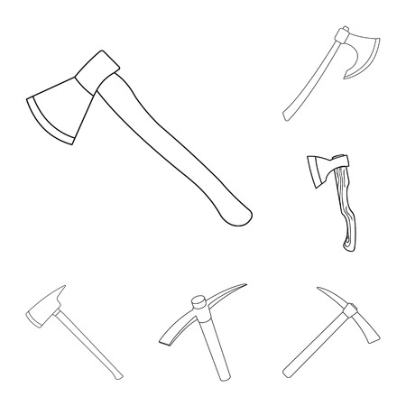 Vector design of  and ax. Collection of  and crossed stock symbol for web.