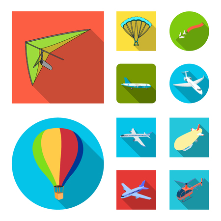 Isolated object of transport and object sign. Collection of transport and gliding  stock symbol for web. Illustration