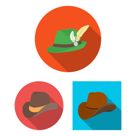Vector design of hat and cap icon. Collection of hat and model stock vector illustration. Illustration