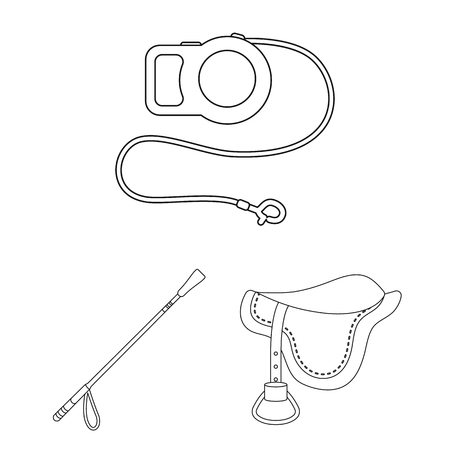 Vector illustration of pet and accessories sign. Collection of pet and shop stock symbol for web. Vector Illustratie