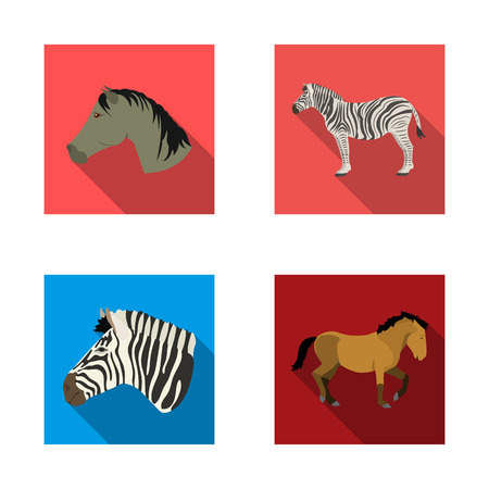Vector design of trot and running symbol. Set of trot and clipart vector icon for stock.