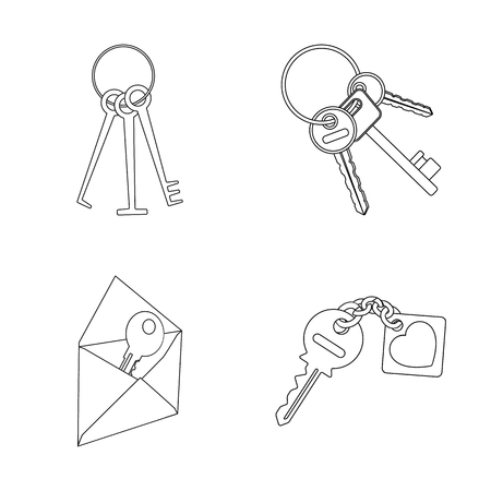 Isolated object of key  and protection sign. Set of key  and security vector icon for stock. Illustration