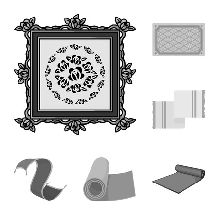 Vector design of carpet and persian sign. Set of carpet and border vector icon for stock.