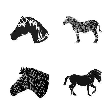 Vector design of trot and running icon. Collection of trot and clipart vector icon for stock.