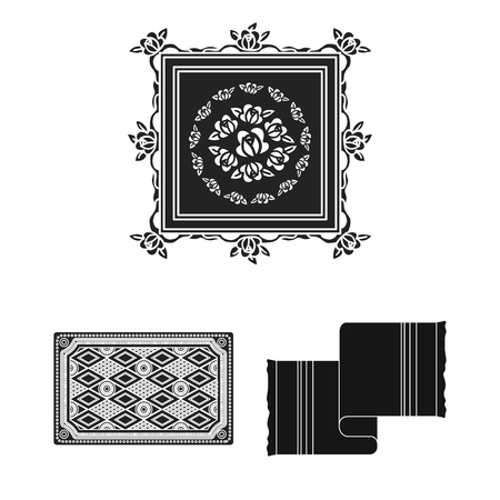 Isolated object of carpet and persian logo. Collection of carpet and border vector icon for stock.