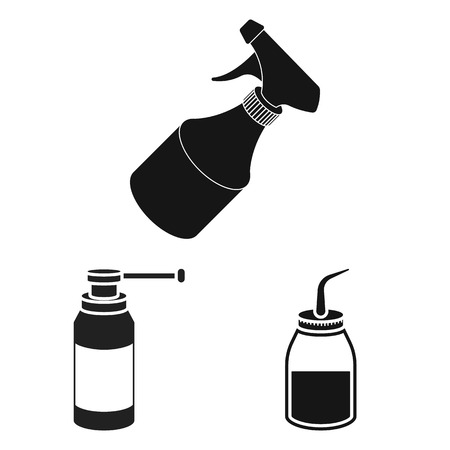 Isolated object of sprayer and liquid sign. Collection of sprayer and pesticide stock symbol for web.