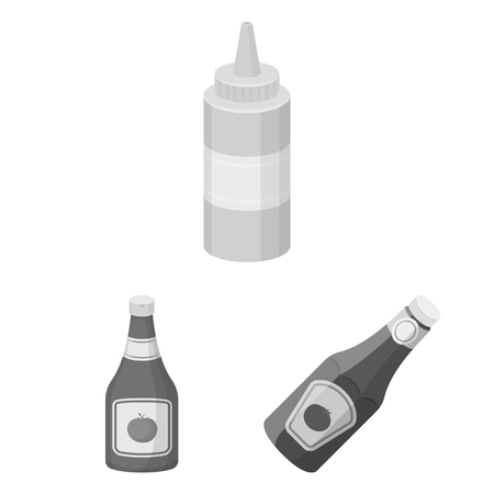 Vector illustration of sauce and condiment logo. Collection of sauce and bowl vector icon for stock.