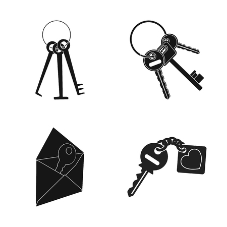 Vector illustration of key  and protection icon. Collection of key  and security vector icon for stock.