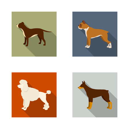Vector illustration of cute and puppy icon. Set of cute and animal vector icon for stock.
