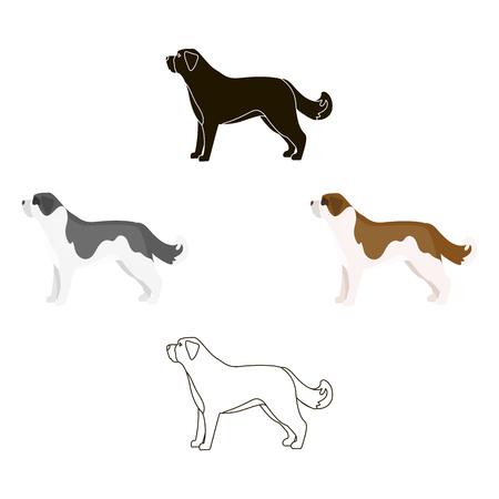 St. Bernard dog vector icon in cartoon style for web Vector Illustratie