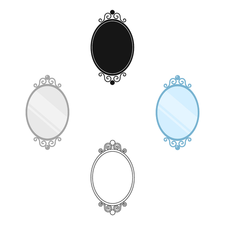 Mirror icon of vector illustration for web and mobile