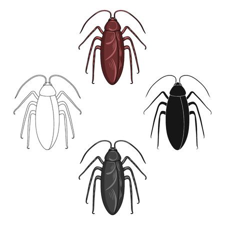 Insect cockroach single icon in cartoon,black,outline,monochrome style for design.Pest Control Service vector symbol stock illustration web. Vektorgrafik