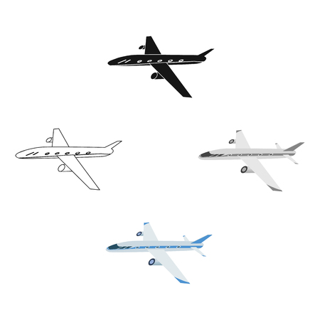 Freight aircraft. Transport and delivery single icon in cartoon style isometric vector symbol stock illustration web. Çizim
