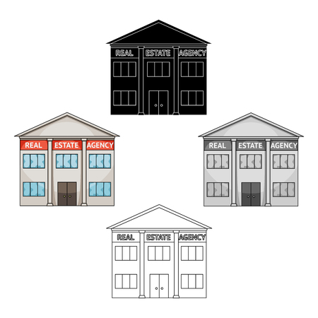 Office real estate agency.Realtor single icon in cartoon style vector symbol stock illustration web.