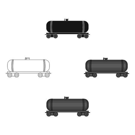 Railway tank car.Oil single icon in cartoon style vector symbol stock illustration web.