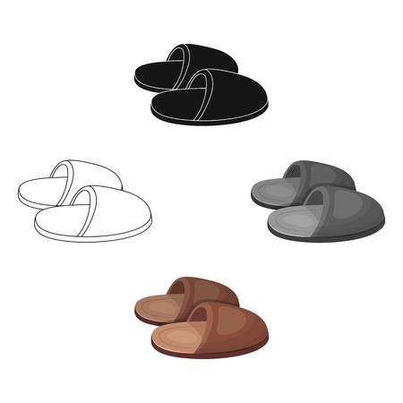 Slippers.Stary wiek pojedyncza ikona w www ilustracji symbol wektor kreskówka styl.