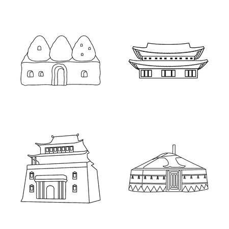 Vector illustration of  and town  icon. Collection of  and house stock vector illustration.