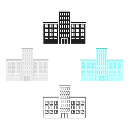 Hospital icon cartoon. Single building icon from the big city infrastructure cartoon.