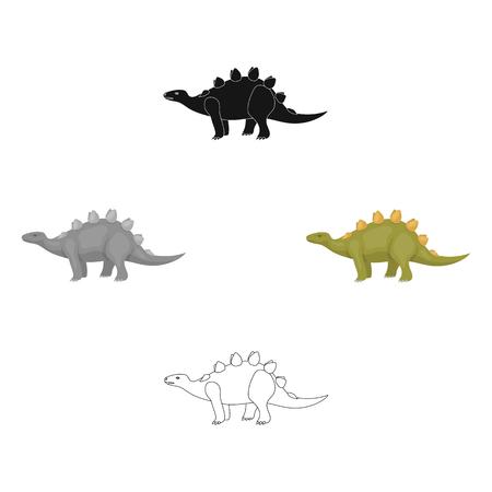 Dinosaur Stegosaurus icon in cartoon style isolated on white background. Dinosaurs and prehistoric symbol stock vector illustration.