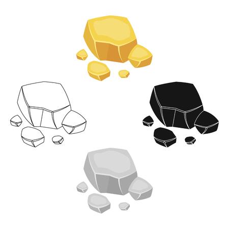 Icône de minerai de cuivre en style cartoon isolé sur fond blanc. Minéraux précieux et bijoutier symbole illustration vectorielle stock. Vecteurs