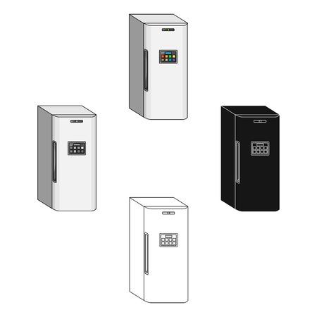 Refrigerator, single icon in cartoon style.Refrigerator, vector symbol stock illustration web. Archivio Fotografico - 114845910
