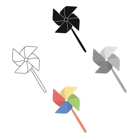 Ikona kreskówka wiatrak zabawka. Ilustracja do projektowania stron internetowych i mobilnych. Ilustracje wektorowe