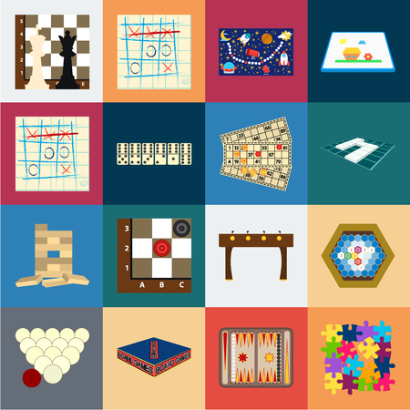 Board game cartoon icons in set collection for design. Game and entertainment vector symbol stock illustration.