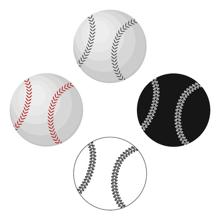 Ball for baseball. Baseball single icon in cartoon style vector symbol stock illustration web.