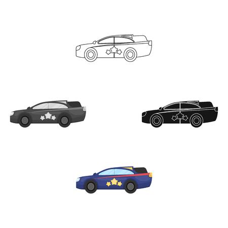 Car, single icon in cartoon style.Car, vector symbol stock illustration web. Standard-Bild - 114846920