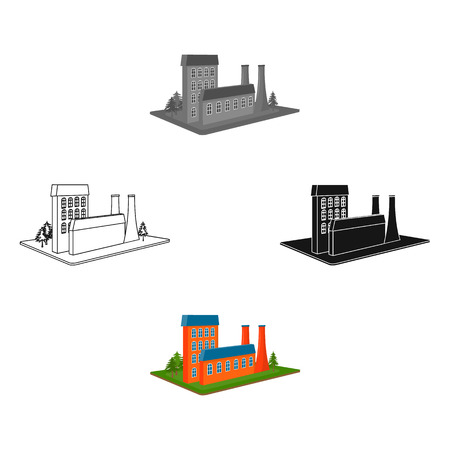 Processing factory. Factory and industry single icon in cartoon style isometric vector symbol stock illustration web. Stockfoto - 114847011