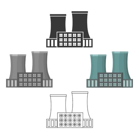 Fabrikikone der Vektorillustration für Netz und Mobile