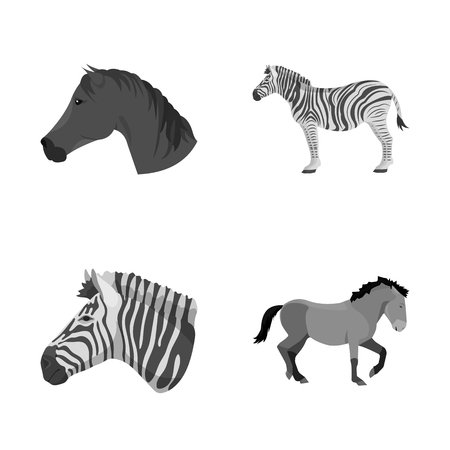 Isolated object of trot and running icon. Collection of trot and clipart stock vector illustration. 版權商用圖片 - 126317456