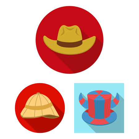 Isolated object of hat and cap icon. Set of hat and model stock symbol for web. Illustration