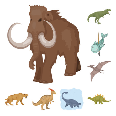 Vector design of animal and character icon. Set of animal and ancient  stock symbol for web. Ilustração