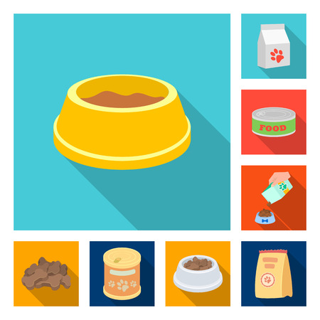 Vector illustration of food  and tin. Set of food  and bottle stock vector illustration. Stock Illustratie