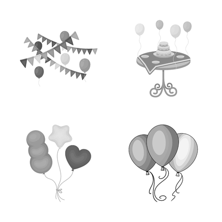 Isolated object of happy and fun symbol. Set of happy and balloon stock vector illustration.