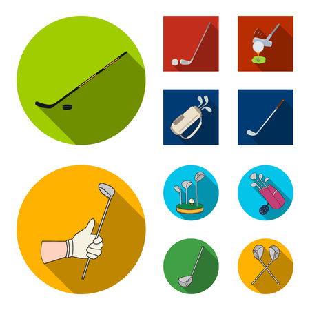 Isolated object of stick and field icon. Set of stick and club vector icon for stock.