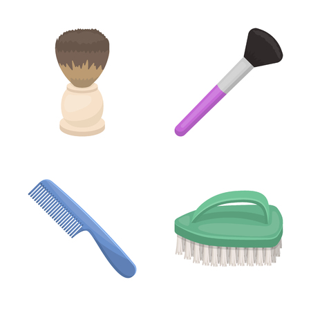 Isolated object of brush and hygiene icon. Set of brush and shower vector icon for stock.