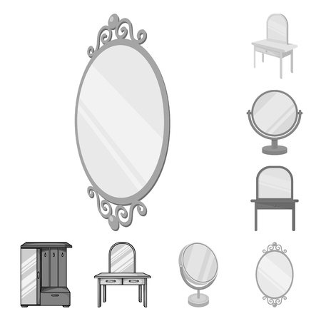 Vector illustration of  and imagery. Collection of  and reflection vector icon for stock. Çizim