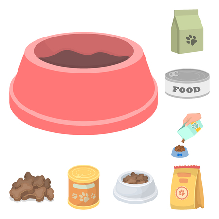 Vector design of food  and tin icon. Collection of food  and bottle stock vector illustration.