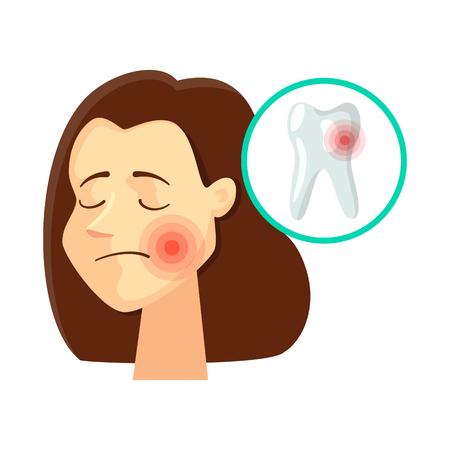 Ilustración de vector de logo de dolor y enfermedad. Colección de símbolo de stock de dolor y lesión para web.