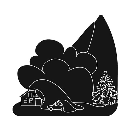 Isolated object of calamity and crash icon. Collection of calamity and disaster vector icon for stock.