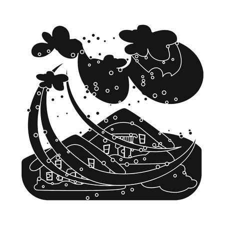 Vector design of calamity and crash icon. Set of calamity and disaster vector icon for stock.