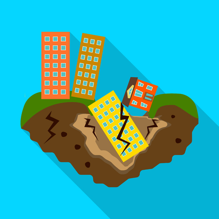 Isolated object of collapse and environment  icon. Set of collapse and distress stock vector illustration. Stock Illustratie