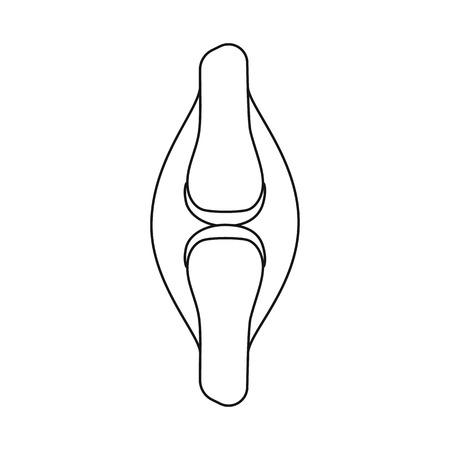 Ilustración de vector de anatomía y símbolo de órgano. Conjunto de ilustración de vector stock médico y anatomía.