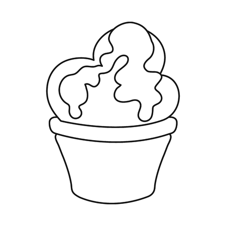 Vector illustration of sweet and product sign. Collection of sweet and caramel stock symbol for web.