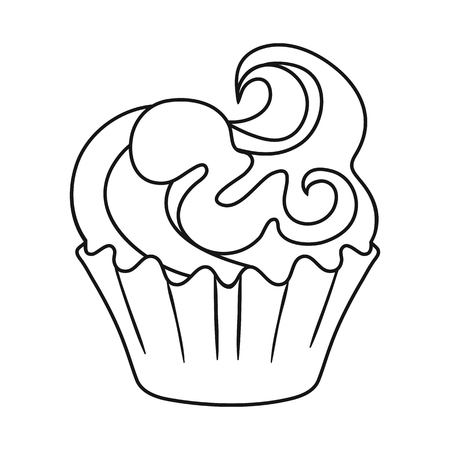 Vector illustration of sweet and product logo. Set of sweet and caramel stock symbol for web.