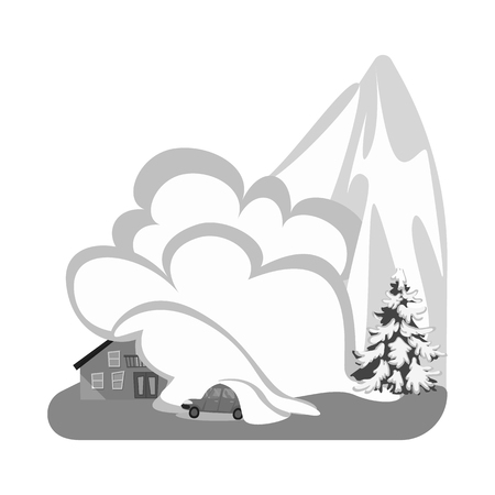 Isolated object of nature and apocalypse  icon. Set of nature and environment  vector icon for stock.