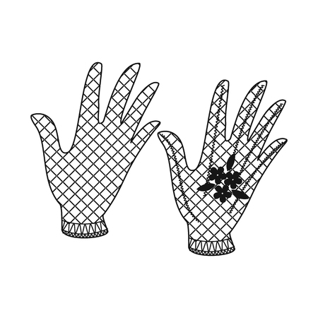 Vector design of accessory and style icon. Set of accessory and distinctive stock symbol for web.