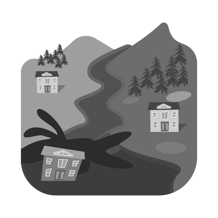 Vector illustration of nature and apocalypse  icon. Set of nature and environment  stock vector illustration.